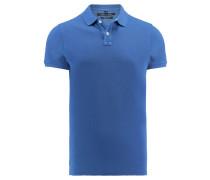 Herren Poloshirt Shaped Fit Kurzarm, Blau
