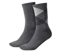 Damen Socken Doppelpack, Grau