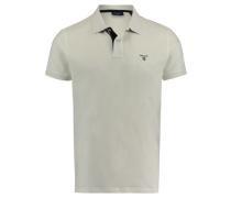 Herren Poloshirt Regular Fit Kurzarm, Weiß