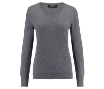 Damen Kaschmir-Pullover, grau