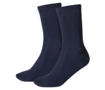 Damen Socken Woman Soft Cotton - Doppelpack, Blau