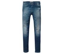 Damen Jeans Petit Ami Slim Boyfriend Fit, Blau