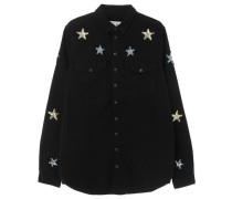Damen Bluse Langarm, black