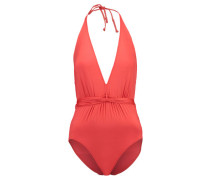 Damen Badeanzug Deep V Maillot Sienna, Rot