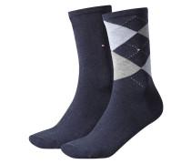 Damen Socken Doppelpack, Blau