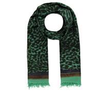 """Damen Kaschmirschal """"Cheetah"""", smaragd"""