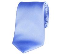 Herren Krawatte aus Seide 7,5 cm breit, bleu