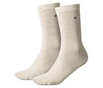 Damen Socke Classic im 2er-Pack, Beige