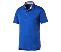 Herren Golfshirt / Poloshirt Tailored Tripped Polo, Blau