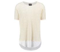 Herren T-Shirt LL Stripe Layer, Beige