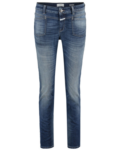 closed damen closed damen jeans pedal x slim fit blue reduziert. Black Bedroom Furniture Sets. Home Design Ideas