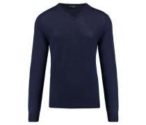 Herren Pullover Merino V, Blau