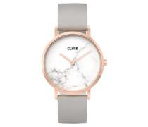 Damen Uhr La Roche Rose Gold White Marble/ Grey CL40005, Rosa