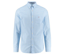"Herren Freizeithemd ""The Oxford Gingham"" Regular Fit Langarm, aqua"