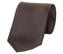 Herren Krawatte aus Seide, anthrazit