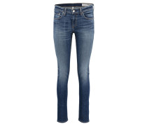 Damen Jeans Slim Fit, Blau