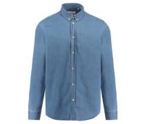 Herren Hemd Liam Regular Fit Langarm, Blau