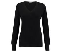 Damen Kaschmir-Pullover, schwarz