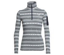 Damen Rollkragenpullover Vertex Long Sleeve Half Zip Icon Fairisle