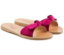 Sandalen Alki aus Satin mit Schleife