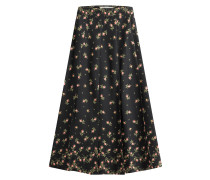 Flared-Skirt mit Blumen-Print