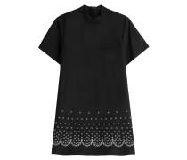 Flared-Dress aus Baumwolle und Leinen mit Lochnieten