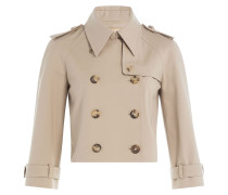 Cropped Trenchjacke aus Baumwolle