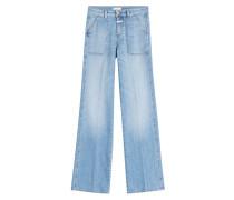 Flared-Jeans Faye aus Baumwolle