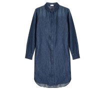 Denimkleid aus Baumwolle und Leinen
