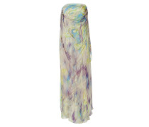 Mauve/Peridot Printed Silk Gown
