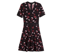 Kleid mit Intarsienmuster