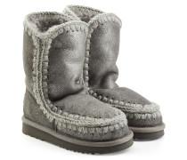 Boots Eskimo aus Schafleder mit Metallic-Beschichtung