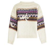 Gemusterter Pullover aus Wolle und Alpakawolle