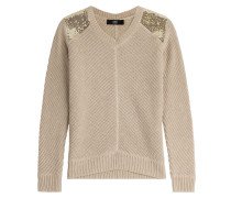 Pullover Hampton aus Baumwolle und Kaschmir mit Pailletten