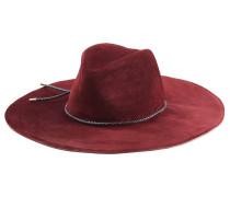 Fedora aus Veloursleder mit geflochtenem Hutband