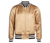 Bomberjacke aus Satin im Metallic-Look