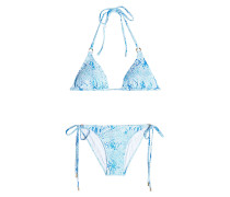 Triangel-Bikini mit Animal Print