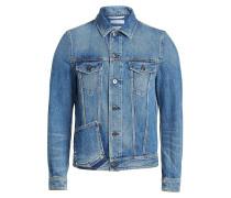 Jeansjacke mit Rockstud-Nieten