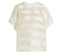 Streifen-Shirt mit Seide