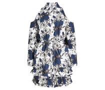 Bedrucktes Cold-Shoulder-Kleid aus Baumwolle