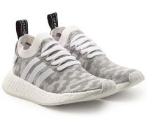 Gewebte Sneakers NMD_R2 mit Leder