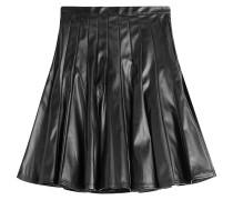 Flared-Skirt in Leder-Optik