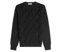 Pullover aus Schurwolle mit Cut Outs