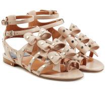 Leder-Sandalen Klara aus Leder mit Schleifen und Nieten