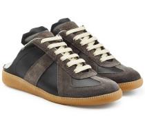 Leder-Sneakers Replica mit offener Ferse