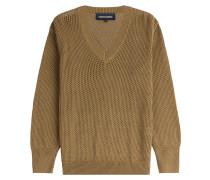 Lochstrick-Pullover aus Baumwolle