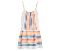 Gestreiftes Strandkleid aus Baumwolle