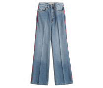 Cropped Wide-Leg-Pants aus Baumwolle