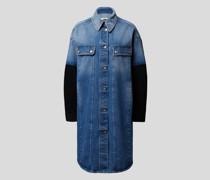 Jeansmantel mit Brand-Details
