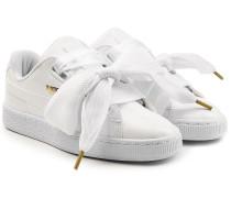 Sneakers Basket Heart aus Lackleder